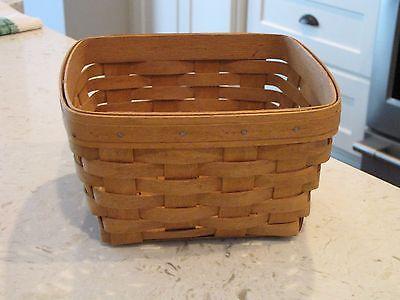 1991 Vintage Longaberger Square Berry Basket *USA* 9