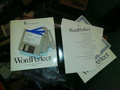 Logiciel de collectionneur: WordPerfect V5,2 FR pour Windows