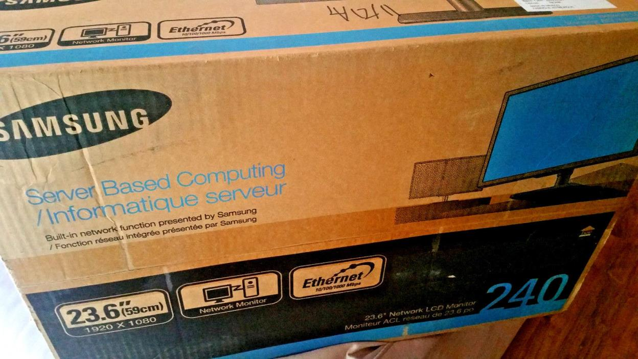 New Samsung NC240 VMWare Thin OS client All-in-One PCoIP w SyncMaster 23