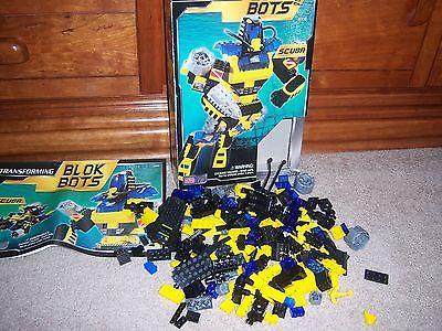Mega Bloks Transforming Blok Bots Scuba 9336