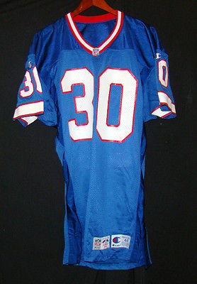 BUFFALO BILLS GAME USED 1993 NFL CHAMPION FOOTBALL JERSEY DOUBLE TAGS