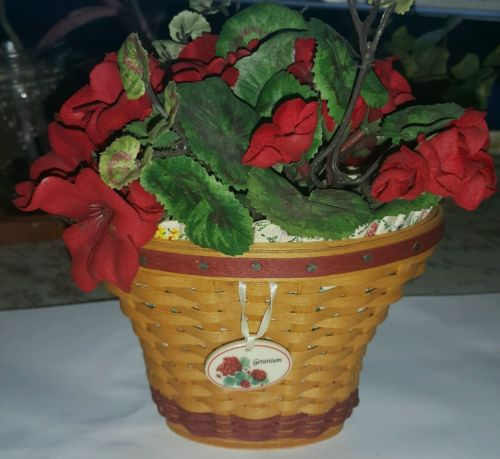 Longaberger Geranium Basket Set 2004