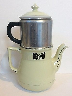 Hall China Medallion SILHOUETTE Coffee Pot/Teapot With Insert