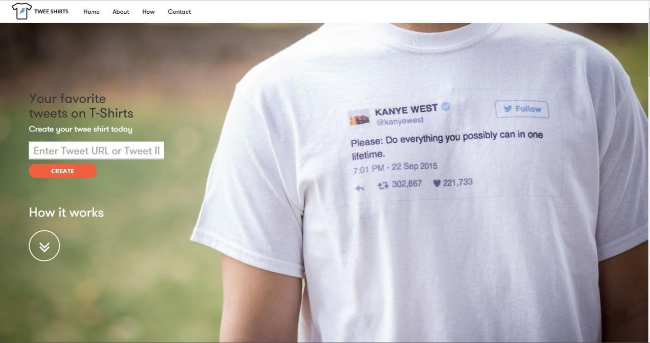 Twee Shirt Website - OBO