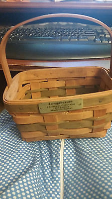 Longaberger 1987 Mistletoe Basket Christmas Collection