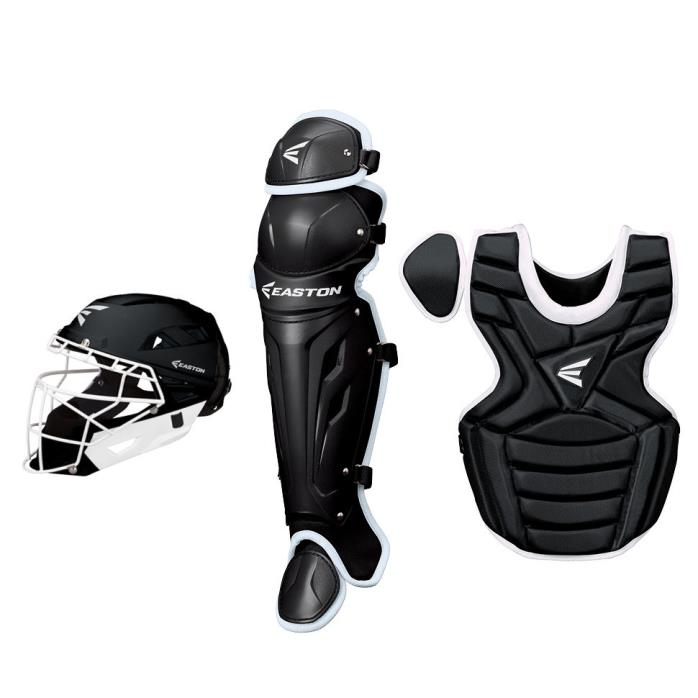 Easton M7 Fastpitch Catchers Gear Set Package - Intermediate Kit - Black
