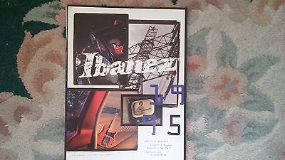 Vintage Ibanez guitar catalog 1995