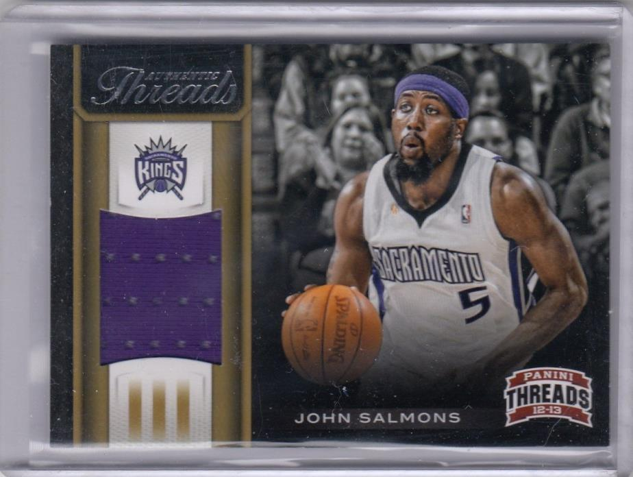 2013 PANINI THREADS JERSEY #23 JOHN SALMONS KINGS ORIGINAL NBA