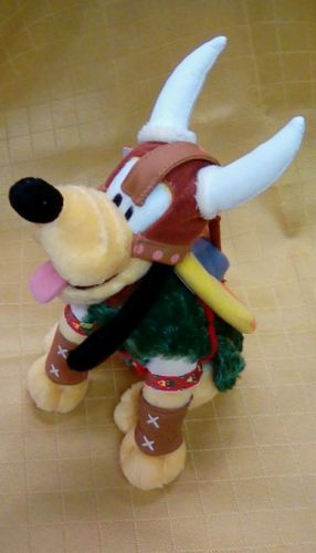 Disney Theme Park Edition Plush Norway Pluto in Viking Costume - New With Tags