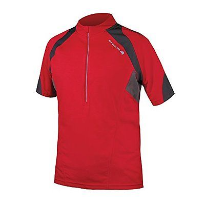 Endura  Men's Hummvee II Short Sleeve Cycling JerseyE3085 (Redbike new cycling)