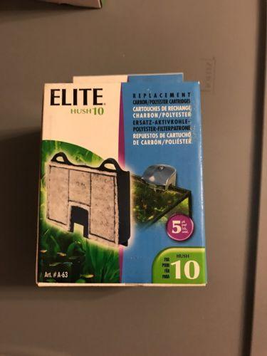 NEW 5-Pack Elite Carbon Cartridge for Hush 10 Power Aquarium Filter
