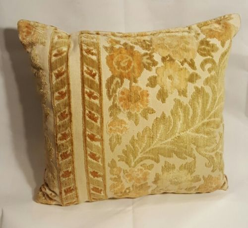 Vtg Brocade throw pillow  15