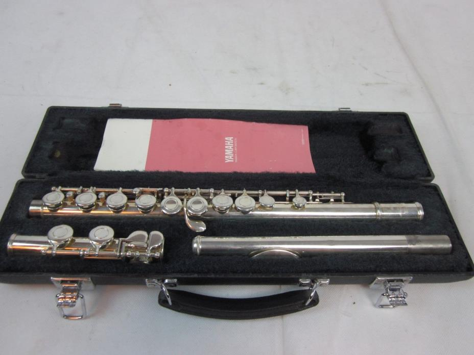 Yamaha 225SII Silver Plated Student Flute W/Hard Case