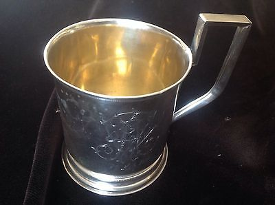 Russian Tea Glass Holder Silver 84' Moscow 1895