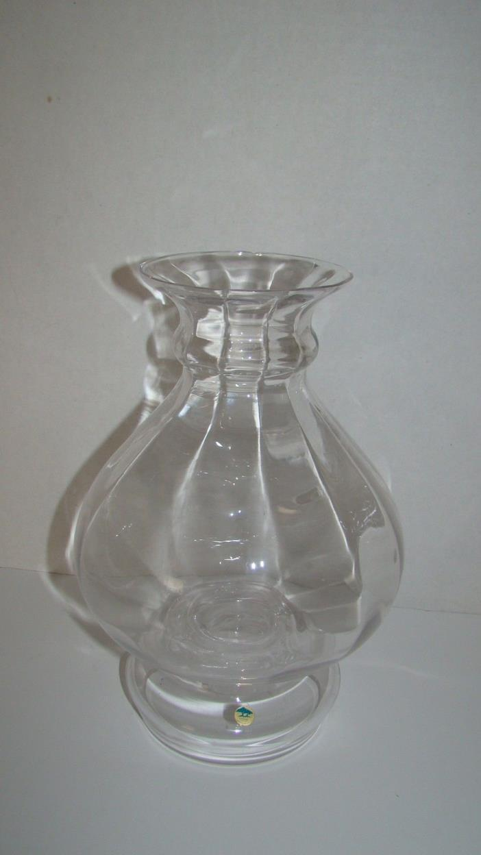 Ekenas Sweden Glass Candle Holder With Shade