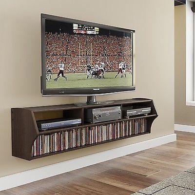 TV Stand Floating Everett Altus Plus Espresso 58-inch Composite Wood 2 Shelf