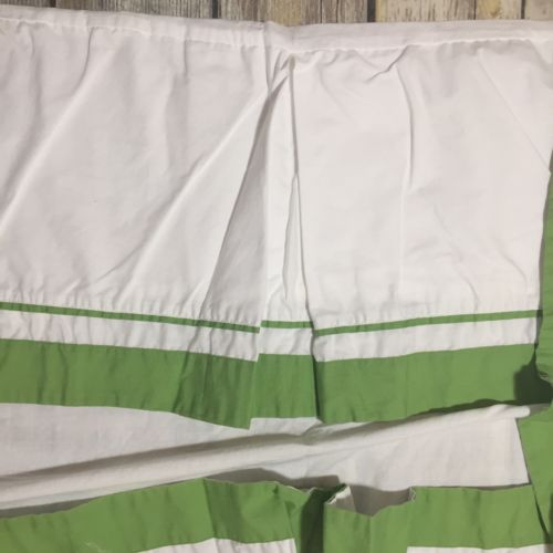 Pottery Barn Kids Baby Green Classic HARPER Cotton Crib Bed Skirt