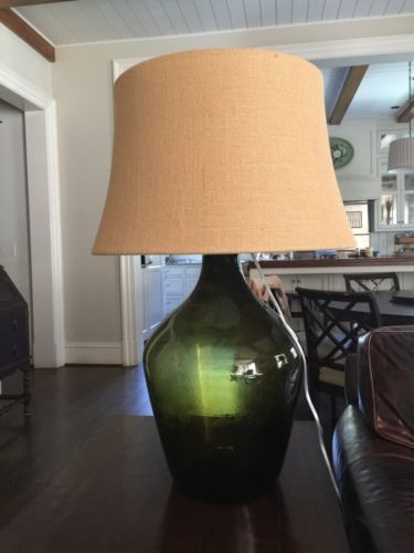 Pottery Barn Glass Bottle lamp