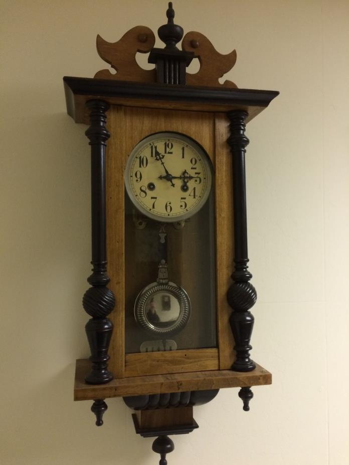 1900s German vienna regulator wall clock