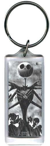 Disney Jacks Back Nightmare Before Christmas Lucite Rectangle Keychain