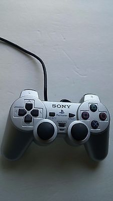 Sony Playstation 2 Silver Analog Dual Shock Controller