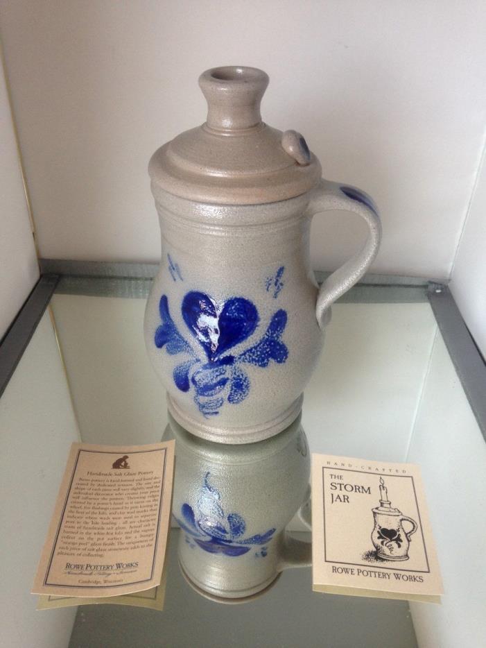 Rowe Pottery~Handmade_Salt Glazed~*Storm Jar*Handmade Candle#16318Y