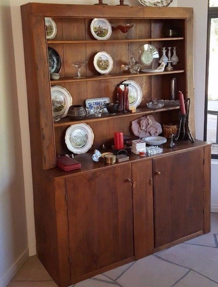 early 1900's Pine hutch made in New England, located in Scottsdale AZ