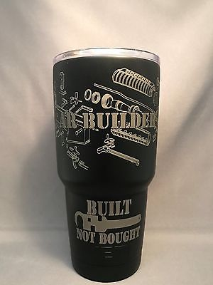 Yeti Rambler 30 ounce powder coated BLACKBOARD (Satin Black) AR Builder