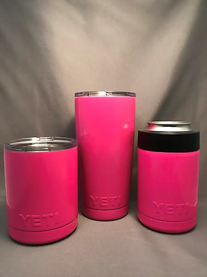 Yeti Rambler Girlfriend Set. 20 oz, 10 oz, & Colster. Atomic Pink