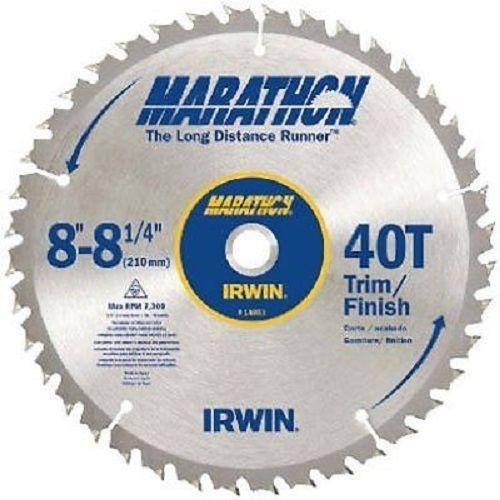 IRWIN Tools MARATHON Carbide Table / Miter Circular Blade 8- 8 1/4-inch 40T