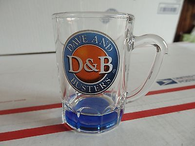 Dave & Busters Mug Shot Glass/ Toothpick Holder