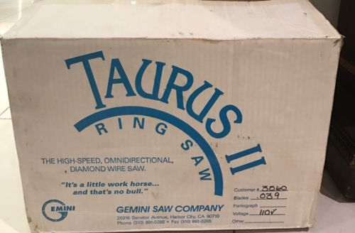 Used- Gemini Taurus II. Ring Saw Wet Saw for Stained Glass,ceramic. plastic etc