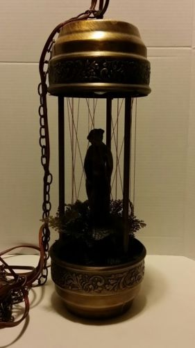 Vintage MINERAL OIL RAIN SWAG LAMP Drip Motion Hanging Chain Lamp
