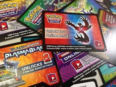 30 Pokémon TCG Online Codes - Mixed Amounts Of Each Certain Codes In Descriptio