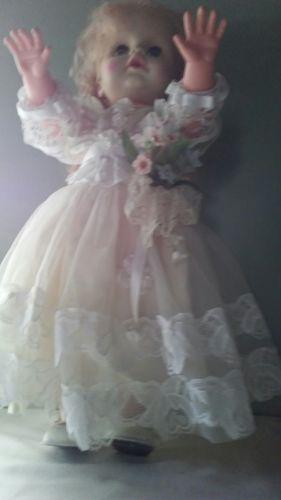 creepy doll 18 in girls wedding dress