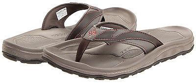 Columbia Men's Techsun Flip III Omni-Grip Water Sandals - Cordovan