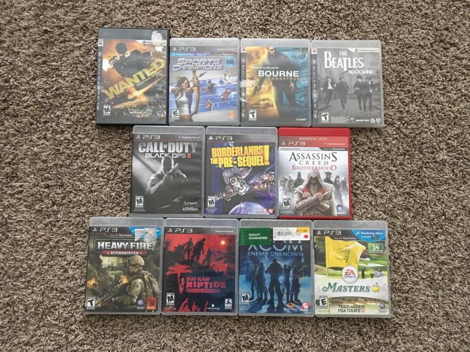 PS3 Playstation 3 Video Game Lot of 11 Action Shooters Borderlands Call Of Duty