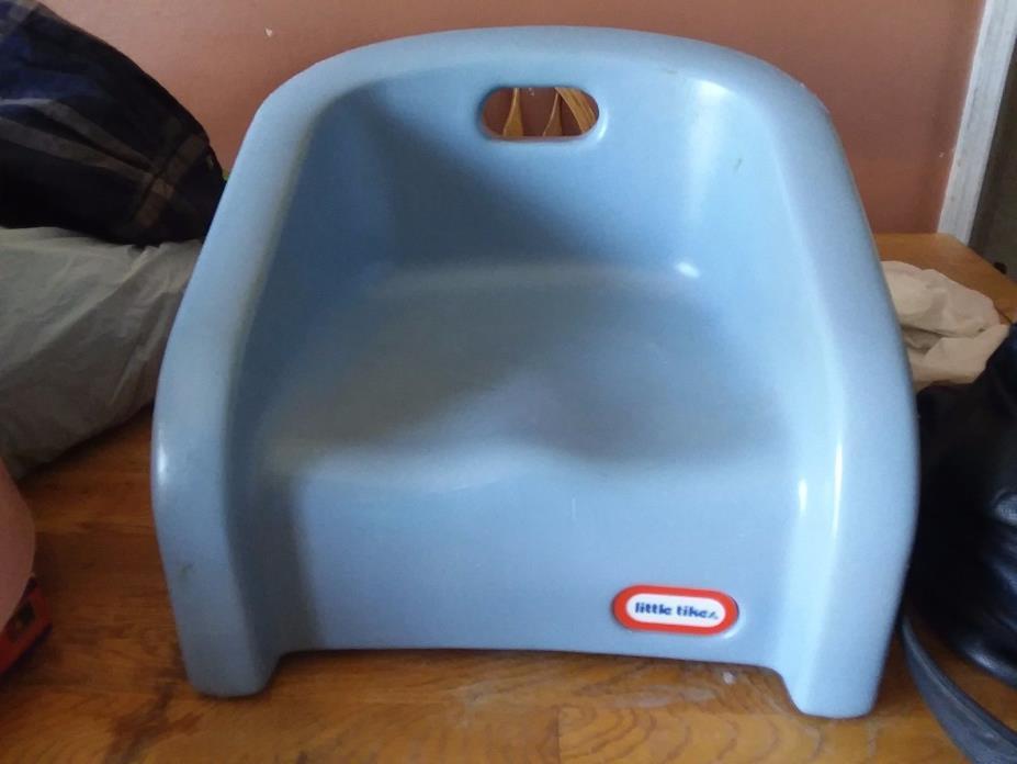 Little Tikes Childrens Kids Light Blue Plastic Booster Seat For Eating Vintage