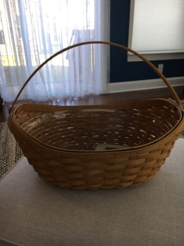 Longaberger Large Crocus Basket & Plastic Protector Classic Color 2006~Easter~??