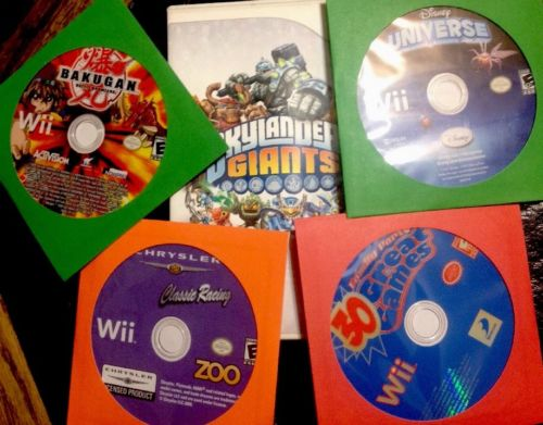 Lot of 5 Nintendo Wii Games: Skylanders Giants, Disney Universe, Bakugan & More!