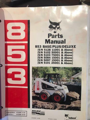 Bobcat 853 Parts And Service Manual