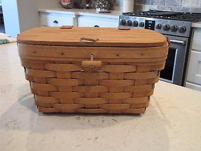 1991 Vintage Longaberger Medium Purse Basket *USA* 11