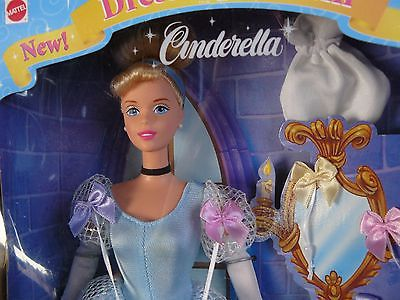MATTEL DISNEY DRESS UP DREAM PRINCESS CINDERELLA BARBIE DOLL 20419