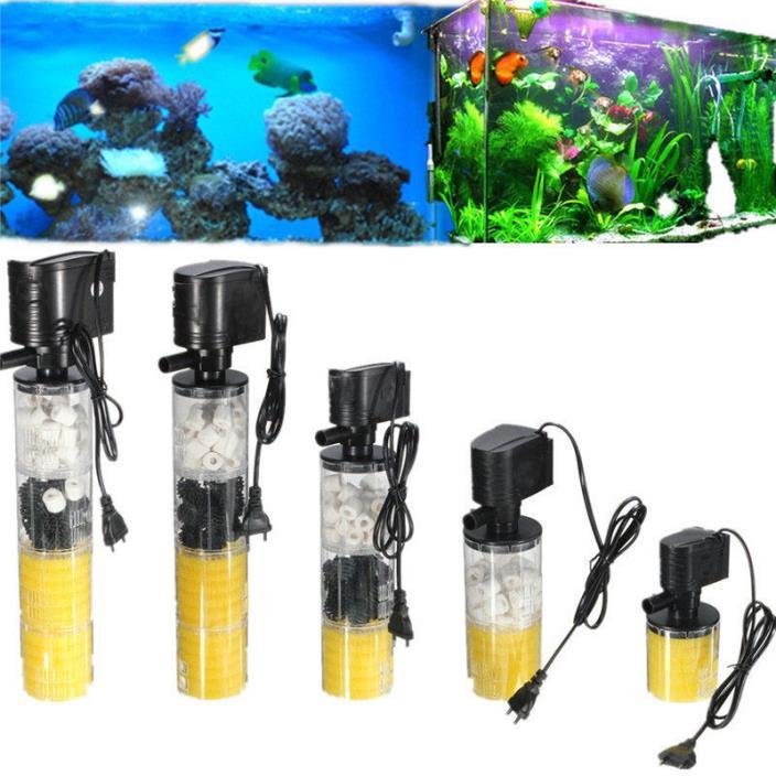 1000-3500L/H Submersible Water Internal Filter Pump For Aquarium Fish Tank Pond