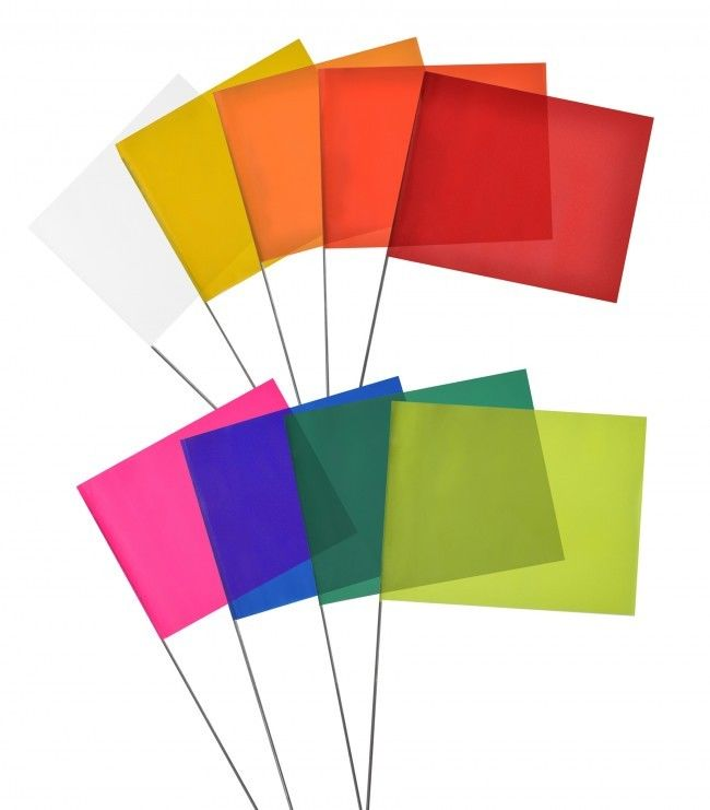 Surveyor Flags, Dark Green  Flags, Survey Flags, Stake flags, 100 per pack