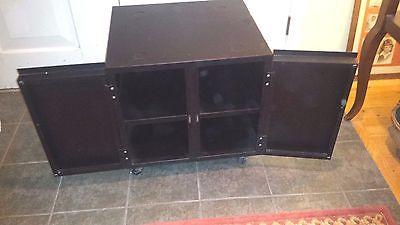 Heavy Duty Office-Workshop Storage Cabinet Black Metal Rolling Wheels - PICK UP