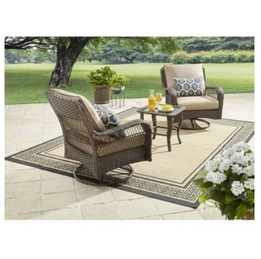3-Piece Outdoor Chat Set Colebrook Patio Backyard Outdoor Furniture Table Chair