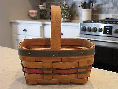 1991 Vintage Longaberger Spring Basket (Small) - Red & Green