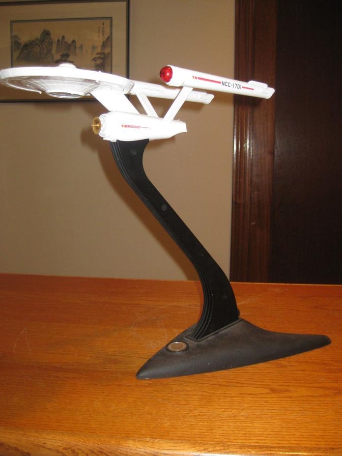 Star Trek USS Enterprise Captain's Lamp Franklin Mint Cast Iron Base Super Rare
