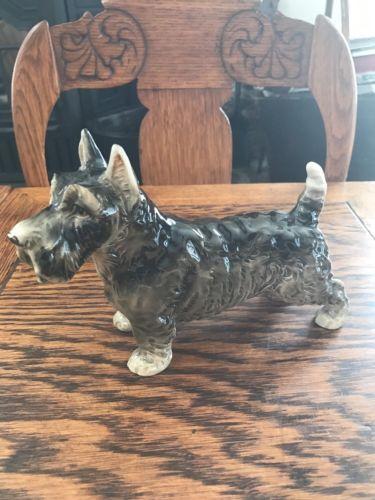 Vintage Occupied Japan Porcelain Ceramic Scotty Terrier Dog Figurine Adorable!